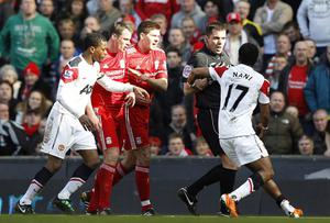 Nani says Jamie Carragher's challenge, which left him with a gash on his leg, was a follow-on from a similar tackle last season, forcing the player out for months