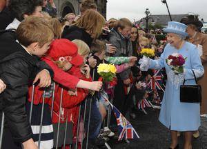 The Queen went walkabout after her visit to St McCartans Cathederal and St Michaels Enniskillen on the first day of her two day visit to the province.Photo by Simon Graham/Harrison Photography