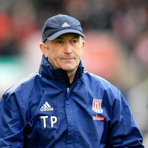 Tony Pulis, pictured, is poised to sign Houston Dynamos utility player Geoff Cameron