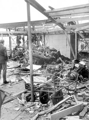 .The IRA set off 26 explosions in Belfast, which killed 11 people and injured 130. 7 people were killed in Oxford Street bus station and 4 at a shopping centre on the Cavehill Road. 1972