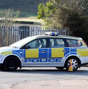 Police attended the scene of the crash on the Coast Road, Glenarm
