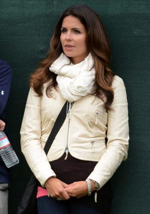 Supporting role: Graeme McDowell's girlfriend Kristin Stape watching the US Open