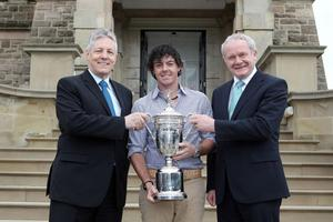 US Open winner Rory McIlroy meets the First Minister and deputy First Minister