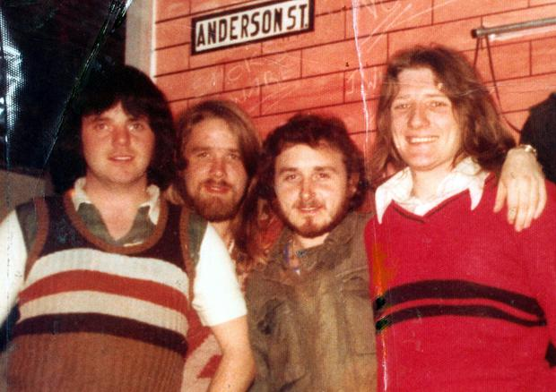 Tomboy Loudon, Gerry Roche, Denis Donaldson and Bobby Sands pictured in the Long Kesh prison, Northern Ireland.