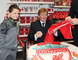 Fans wait to see Kenny Dalglish at the new Liverpool superstore in Belfast