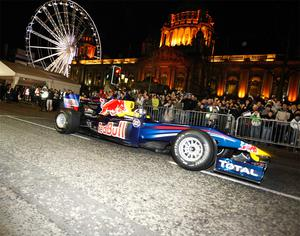 David Coulthard wowed the crowds in Belfast last night