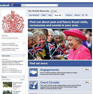 The Queen has joined the Facebook generation with the launch of a British Monarchy page