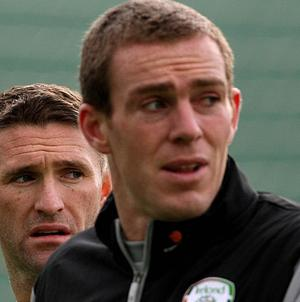 Republic of Ireland footballer Richard Dunne (right) has been banned from driving for six months