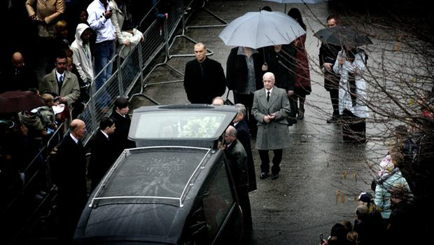 Calum and Dickie Best at George Best's funeral