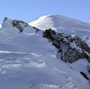 French engineers are bidding to drain a lake on Mont Blanc (AP)