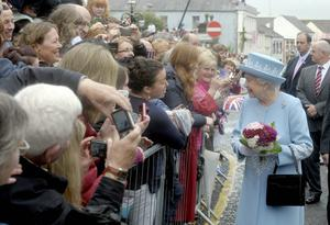 HRH the Queen went walkabout after her visit to St McCartans Cathederal and St Michaels Enniskillen on the first day of her two day visit to the province.Photo by Simon Graham/Harrison Photography