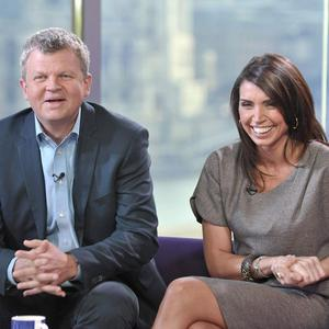 Adrian Chiles and Christine Bleakley have reunited on air as hosts on ITV1's Daybreak