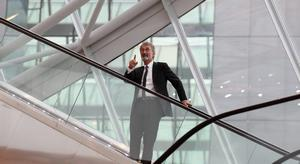 Eddie Jordan leaves the Convention Centre Dublin after an evening of British and Irish music and fashion attended by the Queen