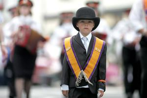 Dressed for the occasion at the North Antrim 12th celebrations. Pic Steven McAuley/Kevin McAuley Photography Multimedia