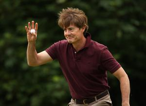 Kyle MacLachlan, Hollywood actor, in action during the first round of The JP McManus Invitational Pro-Am event at the Adare Manor Hotel and Golf Resort on July 5, 2010 in Limerick