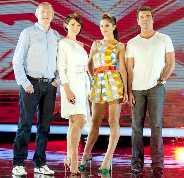 Judges Louis Walsh, Dannii Minogue, Cheryl Cole and Simon Cowell in the new X Factor series