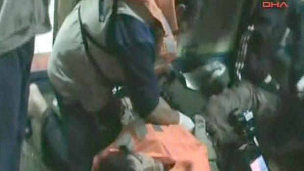 This video image released by the Turkish Aid group IHH Monday May 31, 2010 purports to show an injured passenger on a Turkish ship, part of an aid convoy heading to the Gaza Strip