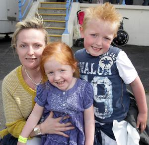 Lynn Kelly with Morgan (5) and Madison (4) from Strabane