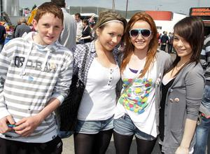 Yvonne Kilrane (15), Katie Tyrell (15), Valerie Donegan (15) and Niall Tiernan (14), all from Leitrim.