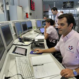 Spacecraft operations manager Andrea Accomazzo controls the Rosetta asteroid mission at the European Space Agency (AP)
