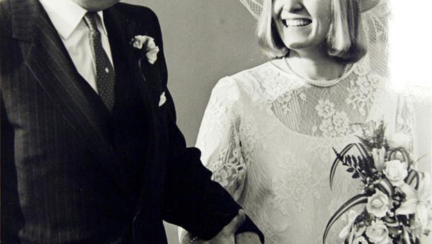 Sir John Herman, former RUC chief constable and his bride Sylvia