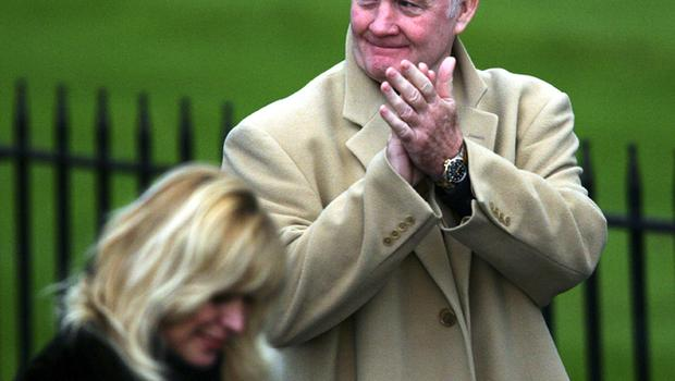 Rodney Marsh at George Best's funeral