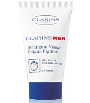 <b>Clarins Men Fatigue Fighter</b><br/>  The great thing about this product is that it's non-greasy, which is ideal for men's skin, which tends to be oilier than women's. As soon as you put this cream on the skin, it's absorbed and helps to minimise the appearance of stress and fatigue.<br/>  <b>Where</b> Boots (www.boots.com) <br/>  <b>How much</b> £28.60 (50ml)