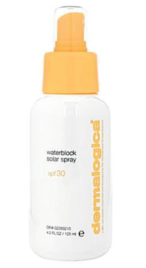 <b>Dermalogica Waterblock Solar Spray</b><br/>  If you're lucky enough to be getting away for some winter sun then pack this sun screen in your wash bag. It's water resistant for about 80 minutes.<br/>  <b>Where</b> Dermalogica (www.dermalogica.com/uk) <br/>  <b>How much</b> £30.50 (125ml)