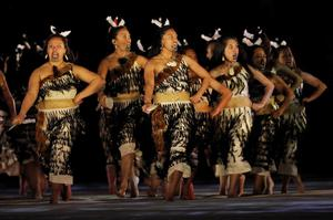 Maori performers entertain fans during the opening ceremony of the Rugby World Cup at Eden Park in Auckland, New Zealand, Friday, Sept. 9, 2011