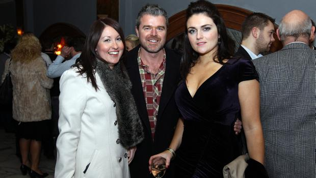 Joanne Smith, Joe Braden and Grainne McGarvey at the Alison Campbell Modelling Agency Christmas Party at Cafe Vaudeville. Picture by Kelvin Boyes / PressEye.com