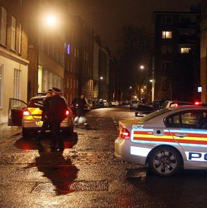 The scene of the shooting in Clerkenwell, central London