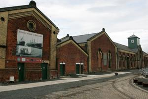 Colin Cobb's Titanic Walking Tours. The pump house at Thompson graving dock.