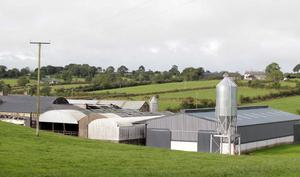 Horror: The Spence farm, where emergency services attended on Saturday night after four people were overcome by fumes