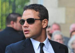 Coronation Street actor Ryan Thomas attends the funeral of Former Snooker World Champion Alex Higgins