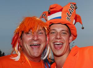 KHARKOV, UKRAINE - JUNE 13:  Netherlands fans enjoy the atmosphere prior to the UEFA EURO 2012 group B match between Netherlands and Germany at Metalist Stadium on June 13, 2012 in Kharkov, Ukraine.  (Photo by Julian Finney/Getty Images)