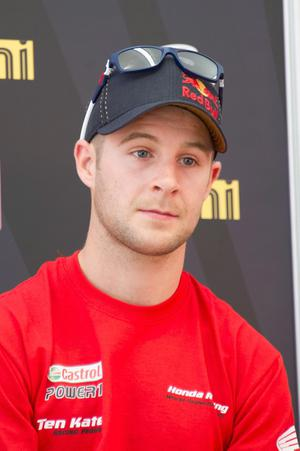 Jonathan Rea crashed in the first race but won in the second