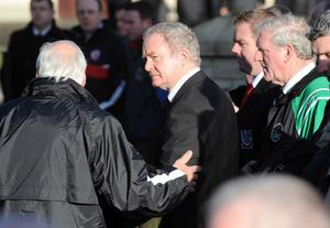 Deputy First Minister Martin McGuinness attends the funeral of Michaela McAreavey.