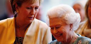 The Queen and President Mary McAleese listen to live classical music as they arrive at the Convention Centre Dublin for an evening of British and Irish music and fashion on May 19, 2011 in Dublin, Ireland.