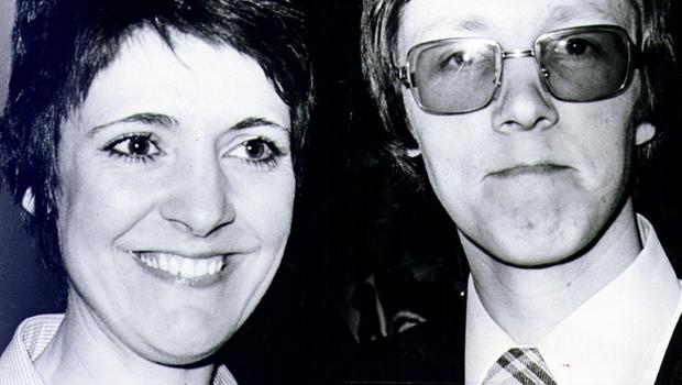 Newly elected DUP MP Peter Robinson and his wife Iris.   4/5/1979