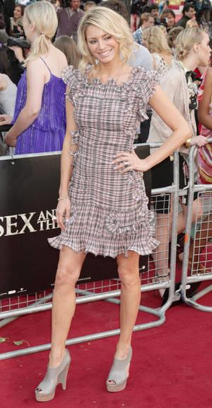 Tess Daly arriving for the UK premiere of Sex and the City 2 at the Odeon, Leicester Square, London.