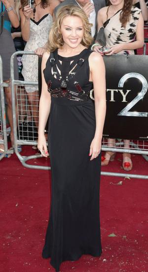 Kylie Minogue arriving for the UK premiere of Sex and the City 2 at the Odeon, Leicester Square, London.