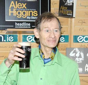 "Former World Snooker Player Champion Alex ""Hurricane"" Higgins  at his book signing in Easons 02.06.07."