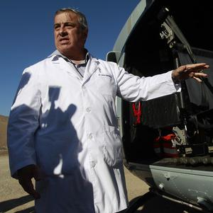 Jaime Manalich, Chile's health minister, has been closely monitoring the miners' mental and physical health (AP)