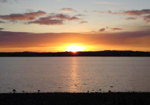 New Years Day sunset, Rough Island, Comber. submitted by Rebecca, Belfast