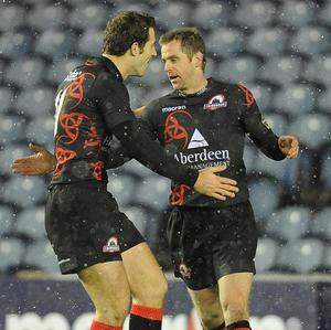 Chris Paterson (right) and Tim Visser