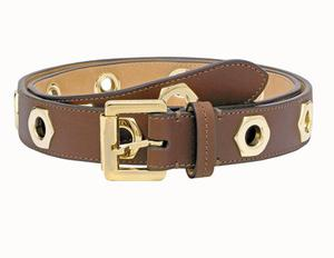<b>Mulberry</b>: With its high-quality leather and chunky gold rivets, this belt will elevate a simple outfit, such as a camel cashmere jumper and a pair of jeans, to a smart ensemble. £175,www.mulberry.com