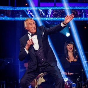 For use in UK, Ireland or Benelux countries only. BBC handout photo of Sir Bruce Forsyth striking the Usain Bolt pose during the recording in London of the first programme in this year's Strictly Come Dancing. PRESS ASSOCIATION Photo. Issue date: Saturday September 15, 2012. See PA story SHOWBIZ Strictly Bruce. Photo credit should read: Guy Levy/BBC/PA Wire NOTE TO EDITORS: Not for use more than 21 days after issue. You may use this picture without charge only for the purpose of publicising or reporting on current BBC programming, personnel or other BBC output or activity within 21 days of issue. Any use after that time MUST be cleared through BBC Picture Publicity. Please credit the image to the BBC and any named photographer or independent programme maker, as described in the caption.