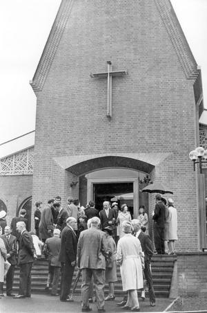 Methodist College Belfast- Chapel of Unity dedication, 1968.
