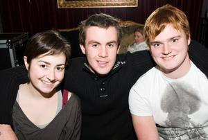 Carrie Boyce, Gregg Thompson and Philip Hutchinson at the Audiopicnic Comedy Night in The Roost