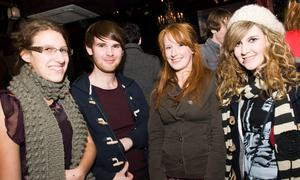 Katrina Bryant, Fergal McQuillan, Fran Bull and Kirsten Kelly at the Audiopicnic Comedy Night in The Roost